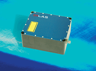 A 450-nm blue fiber-coupled laser module.