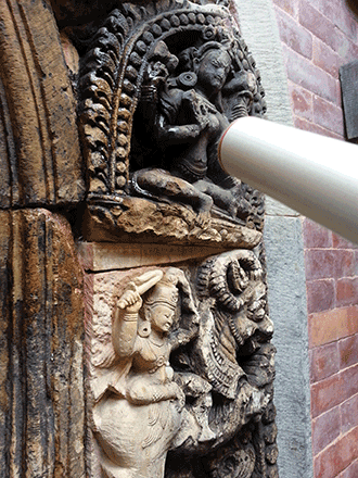 Restoration of Patan Royal Palace portals in Nepal.