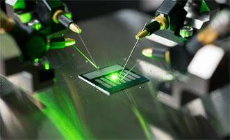 A carbon nanotube optical rectenna converts green laser light to electricity in the laboratory of Baratunde Cola at the Georgia Institute of Technology.