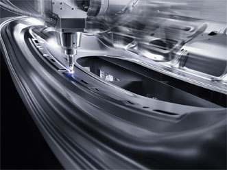 Diode-pumped solid-state lasers have long been an indispensable tool in automotive production. Courtesy of Trumpf.