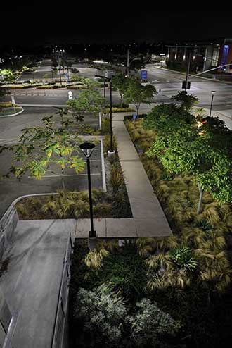 LEDs offer advantages over traditional outdoor lighting