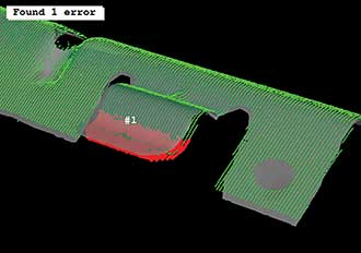 Machine vision is used for 3D surface inspection based on surface-based matching and object comparison.
