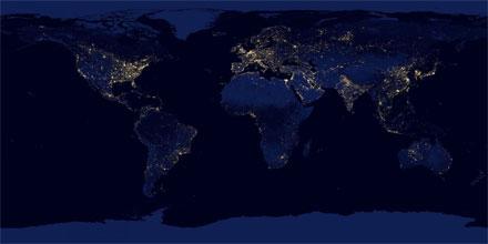 Satellite composite of earth