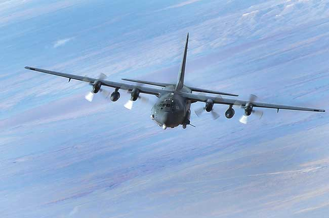 A U.S. Air Force AC-130W gunship.