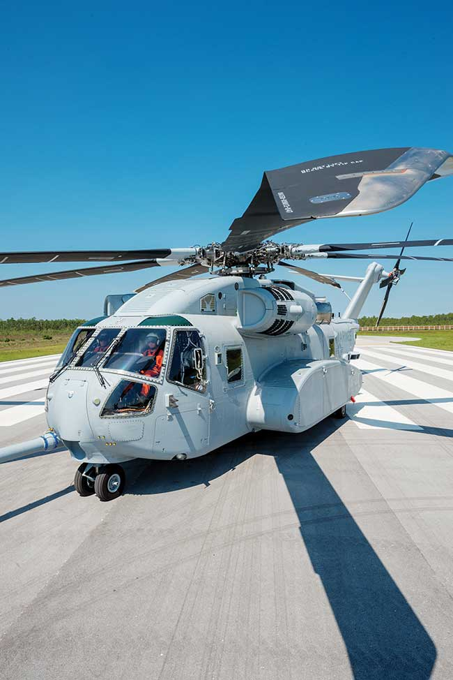 General Lasertronics uses an Nd:YAG laser to remove coatings from CH-53 heavy-lift transport helicopters.