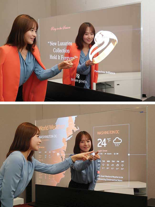 A mirror display based on AMOLED technology.