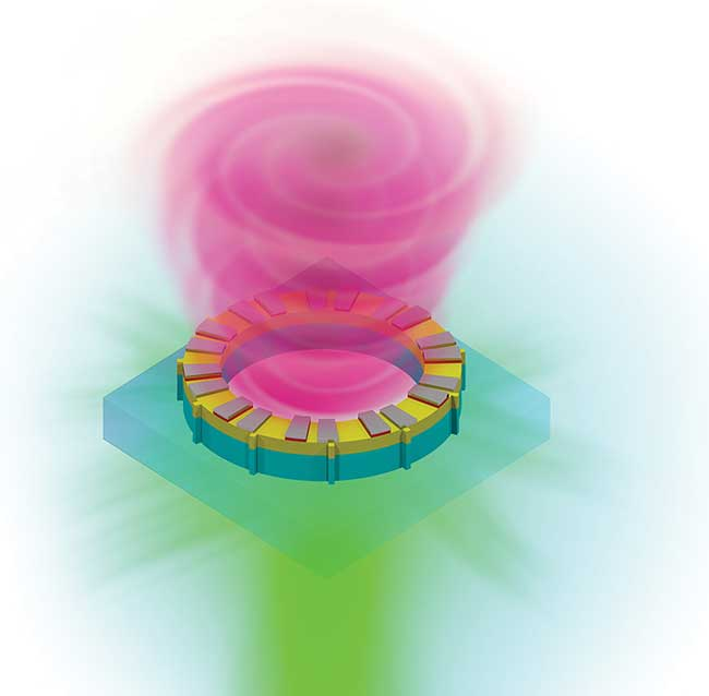 Structured helical wavefronts from a vortex laser could someday carry an unlimited number of orbital angular momentum modes for next-gen terabyte optical communications.