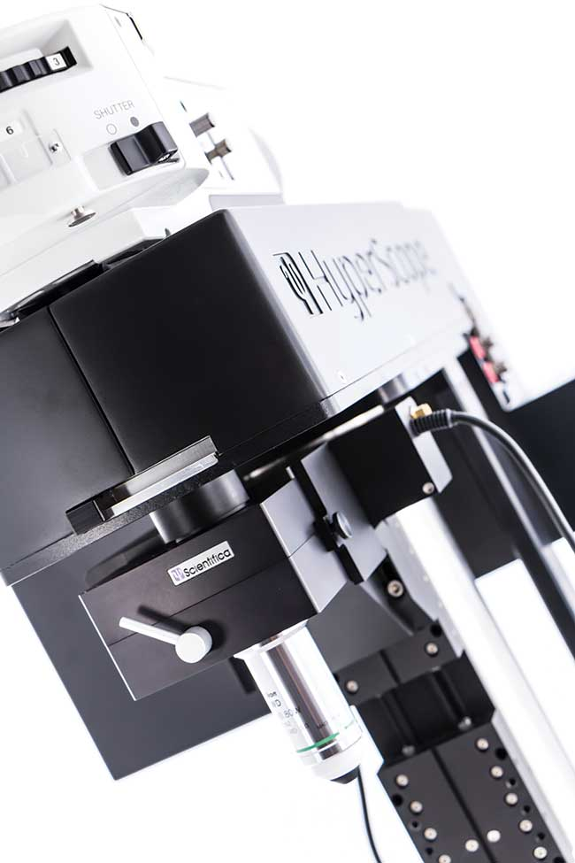 A dual scan-head multiphoton microscope.