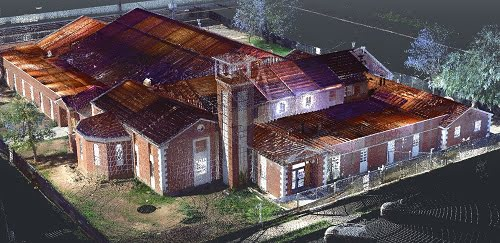 3D laser scanning of Meetinghouse at 3080.