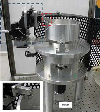 A demonstrator system for strain sensing in a rotating structure.