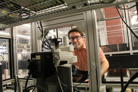 "Nir Katchinskiy and other electrical engineering researchers from the University of Alberta used a femtosecond laser system to ""weld"" neurons."