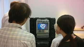 A LightSpace Technologies Inc. real-time volumetric 3D imaging technology demonstration session.