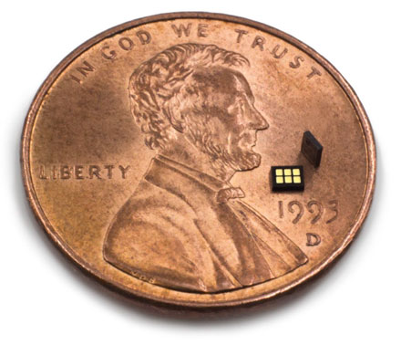 Heptagon's new module is 4 times thinner than a U.S. penny.