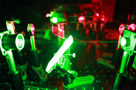 Sam Johnsson's diamond nanophotonics experiment setup uses the Colbolt Samba 532-nm laser.