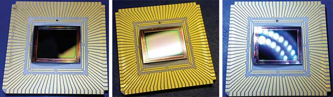 FPAs are in leadless chip carriers