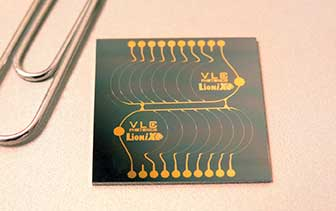 Chip designed and tested by VLC Photonics and fabricated using the MPW fabrication of LioniX.