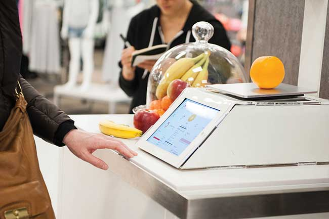 "Target recently tested a prototype ""spectroscale,"" which uses spectroscopy to measure produce's nutrient content, including vitamins, calcium and dietary fiber."