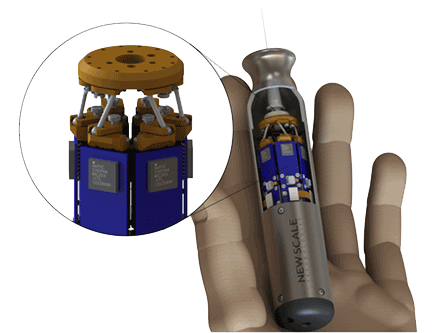New Scale Technologies has been awarded an SBIR grant from NIH to develop a miniature commercial hexapod, a tiny six-degree-of-freedom micromanipulator.