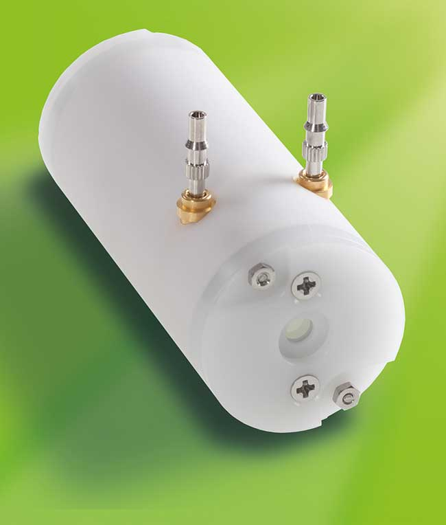 Qioptiq's DBBPC HR Pockels Cell, with two Beta Barium Borate (BBO) crystals for switching frequencies up to 1.3 MHz.