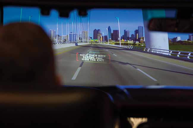 MEMS projection technology powers high-brightness and interactive head-up displays to enhance driving.