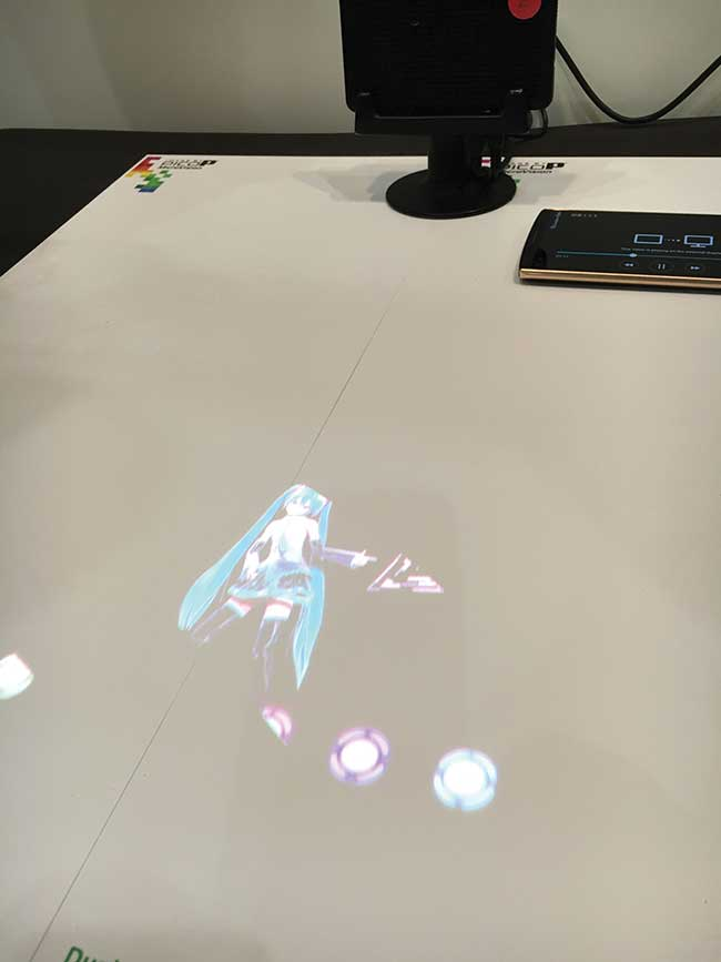MEMS-based scanning technology enables tabletop projection.