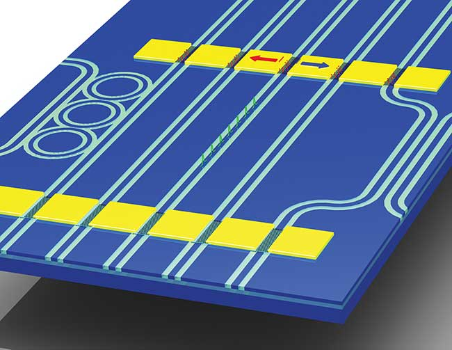 Graphene and other two-dimensional materials are being developed as active components on photonic integrated circuits.
