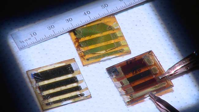 Three types of large-area solar cells are made out of two-dimensional perovskites.