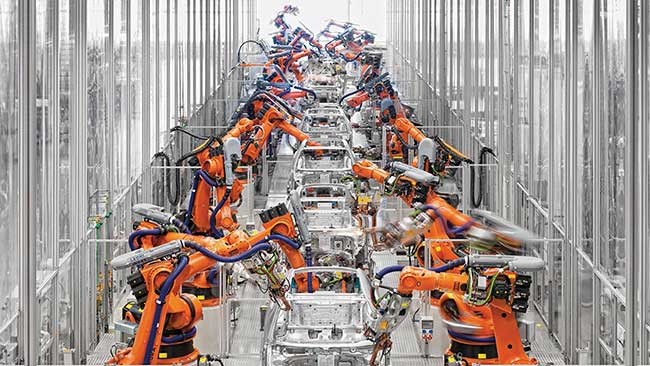 Audi's A3 body shop.
