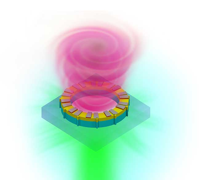 A vortex laser on a chip.