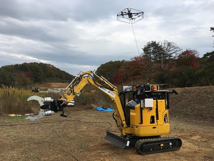 Rescue robot with a drone.