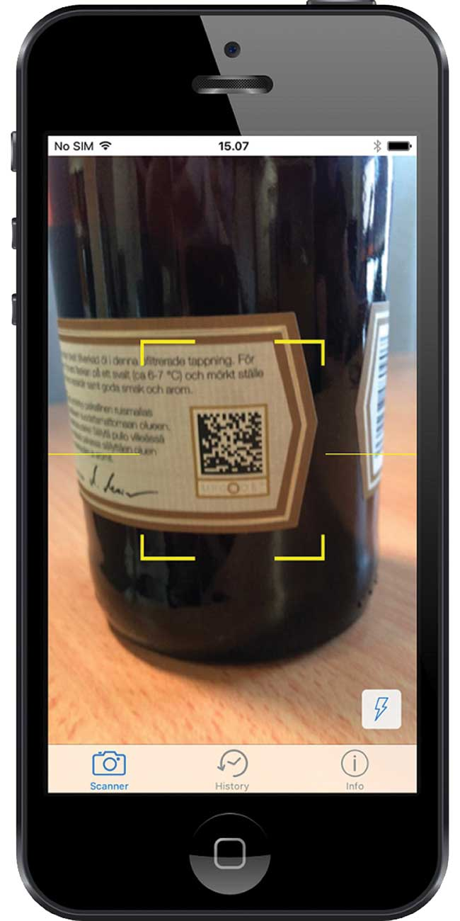 UpCode barcode reader.