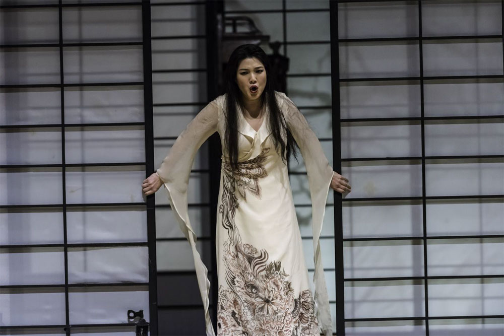 WNU soprano Karah Son as Madame Butterfly, Welsh National Opera.