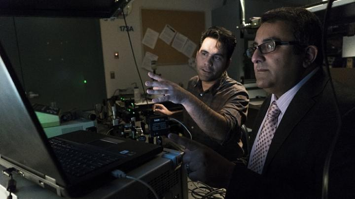 Optical fiber used to control, direct random laser, University of New Mexico.