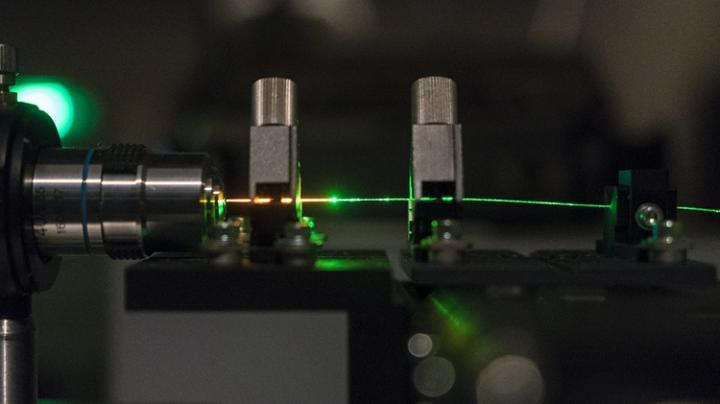 Using optical fiber to control, direct random laser, University of New Mexico.