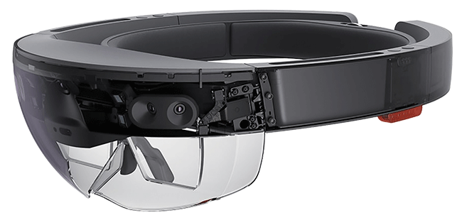 Microsoft's HoloLens, available to software developers, will mesh augmented reality with a wearable computer, incorporating cameras with high-resolution lenses and high-accuracy sensors.