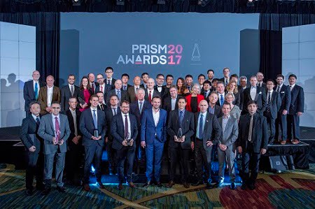 The 2017 winners and event sponsors, Photonics Media and SPIE.