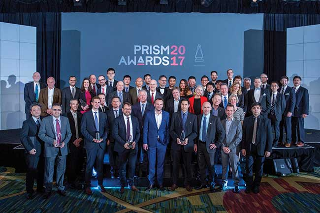 The 2017 winners and event sponsors — Photonics Media and SPIE.