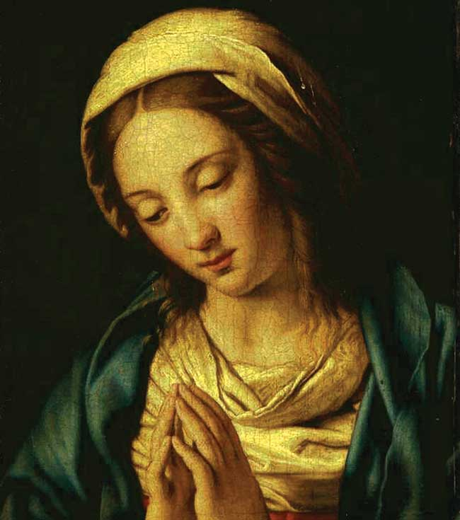 """Madonna in Preghiera"" by the workshop of Giovanni Battista Salvi da Sassoferrato."