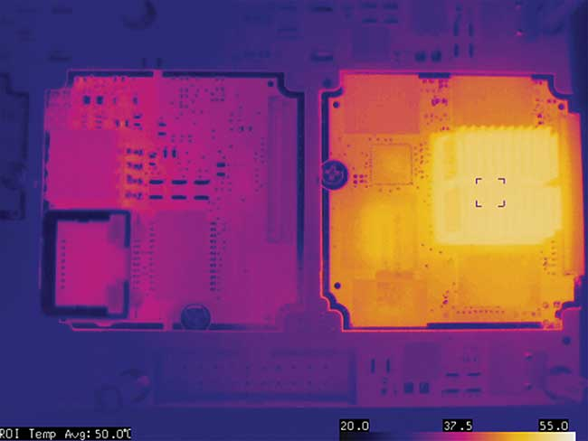 LWIR images of camera boards show circuit inspection.