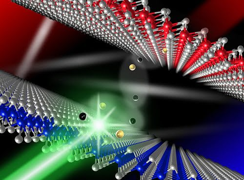 Using laser beams and the 'Scotch tape' method used to create graphene, researchers craft new materail that could improve LED screens.