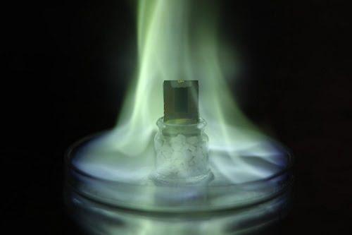 Illustration of a perovskite solar cell.
