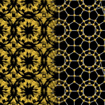Nanoparticle crystal designed by Nortwestern and University of Michigan