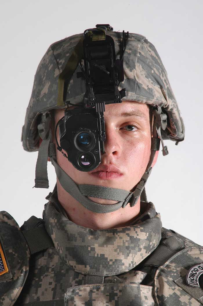 Enhanced night-vision goggles like these, developed for the U.S. Army's Night Vision and Electronic Sensors Directorate, fuse IR-based thermal imaging with visible image intensification.