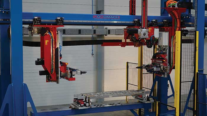 A system for automated welding of towel radiators.