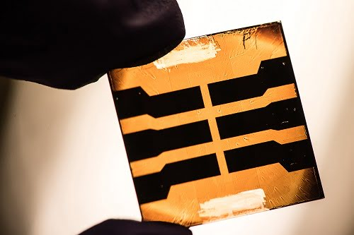 A lead sulfide quantum dot solar cell developed by researchers at NREL.
