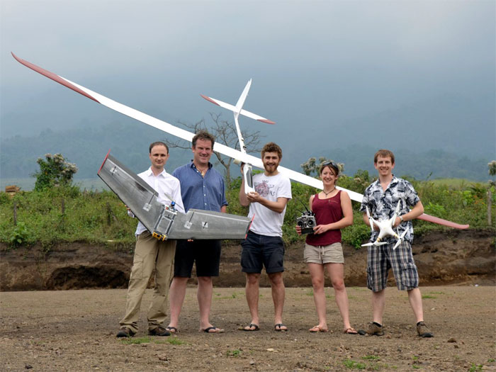Research team in Guatemala measuring volcanic activity. Universities of Bristol and Cambridge.