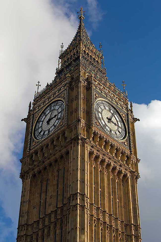 Elizabeth Tower is home to five bells, including Big Ben.