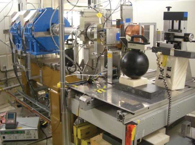 Proton irradiation test setup for reliability tests of distributed feedback (DFB) lasers for space applications.