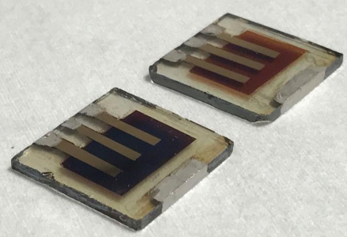 Fresh and degraded perovskite solar cells. Imperial College London.
