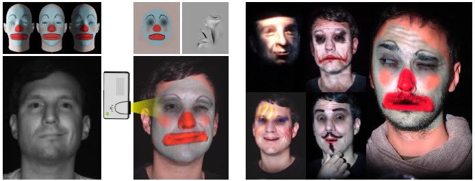 Makeup Lamps: Live Augmentation of Human Faces via Projection, Disney Research.